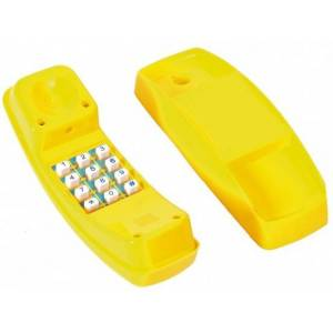 Swing King telefoon voor speelhuisje 21 cm geel - Geel