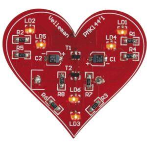 Velleman ledverlichting MK144 SMD hart 49 x 44 mm rood - Rood