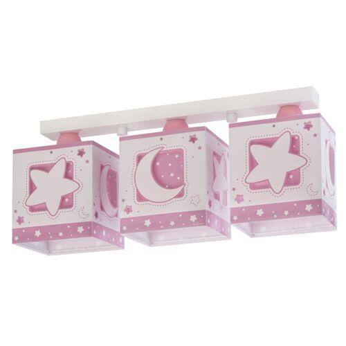 Dalber plafondlampen Moonlight 3 stuks 20 cm roze - Roze