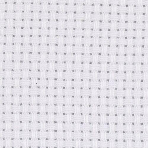 Creotime aida stoffen doek wit 50 x 50 cm 1 stuk - Wit