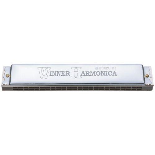 Suzuki mondharmonica tremolo 48 tonen C majeur zilver - Zilver