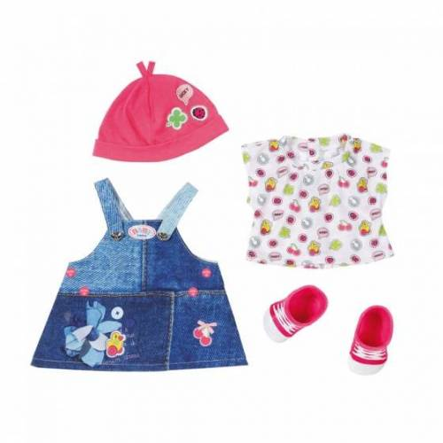 BABY born deluxe kledingset met schoenen roze - Blauw,Roze