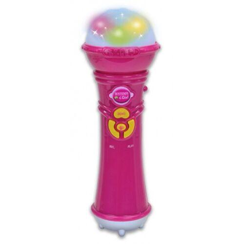 Bontempi karaoke microfoon 21 cm roze - Roze