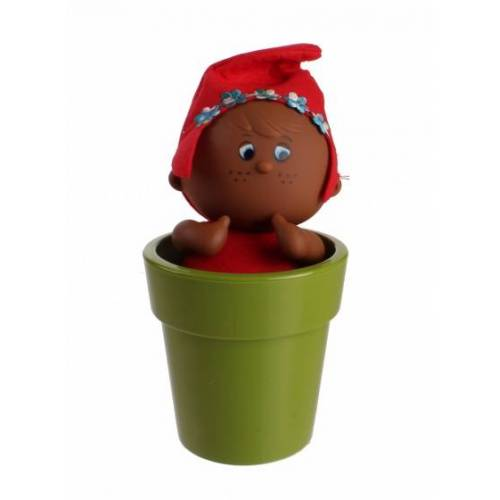Falca pop in bloempot 21 cm rood - Rood