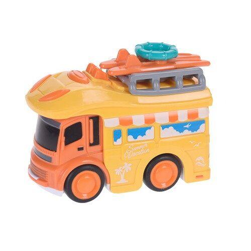 Free and Easy camper kampeerbus strandvakantie 9 cm geel - Geel