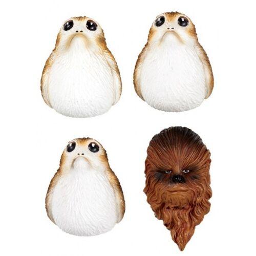 Funko magneten Star Wars The Last Jedi: Chewbacca and Porgs 4 delig - Wit,Bruin