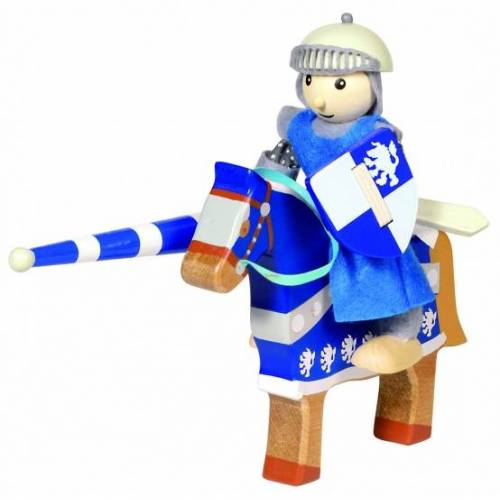 Goki Houten Buigpopje Ridder Lancelod 11cm - Blauw