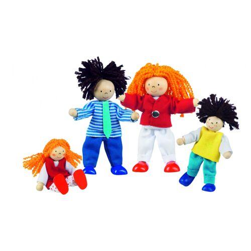 Goki Houten Buigpopjes Set Familie 9 11cm - Multicolor