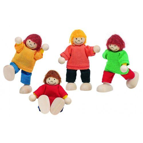 Goki Houten Buigpopjes Set Kinderen 6cm - Multicolor