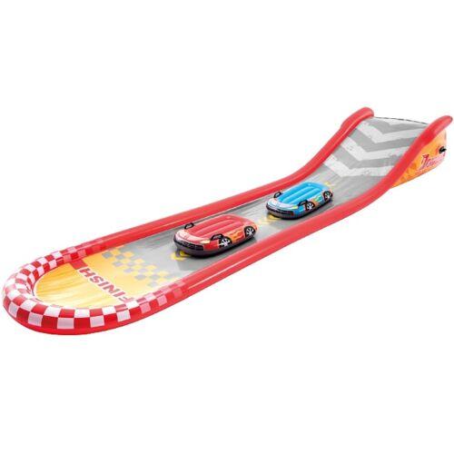 Intex waterglijbaan junior 5,6 x 1,2 m vinyl grijs/rood 3 delig - Grijs,Rood