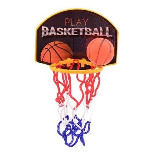 Johntoy mini basketbalspel met basketbal in doos - Multicolor