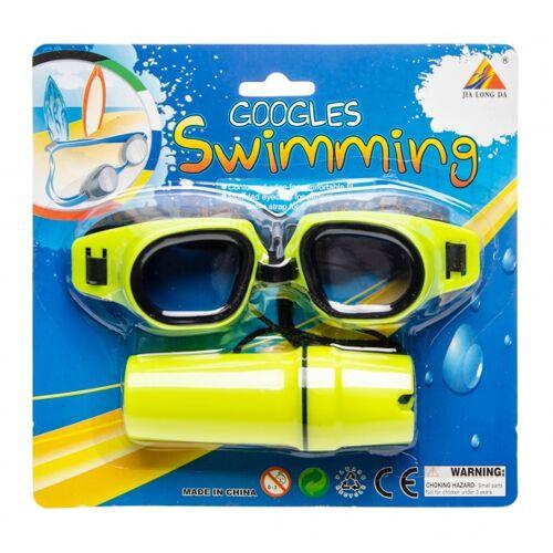 LG-Imports LG Imports zwembril met brillenkoker geel one size - Geel