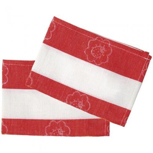 Nic theedoeken rood/wit 18 cm 2 stuks - Rood,Wit