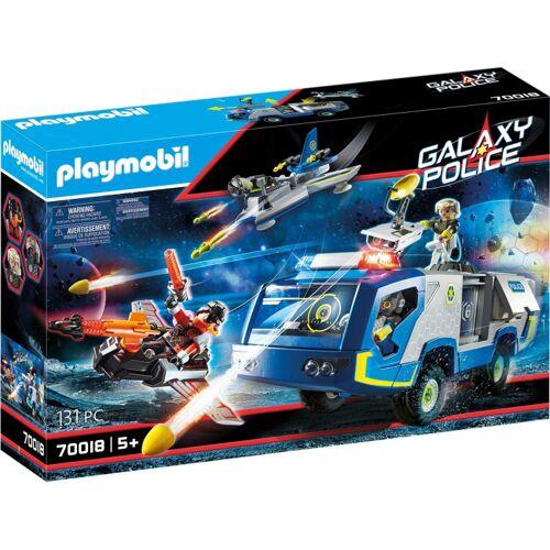 PLAYMOBIL Galaxy Police vrachtwagen jongens 131 delig - Blauw,Multicolor
