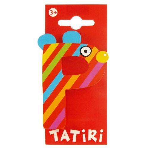 Tatiri Houten Letter: Dierenalfabet P Rood - Rood