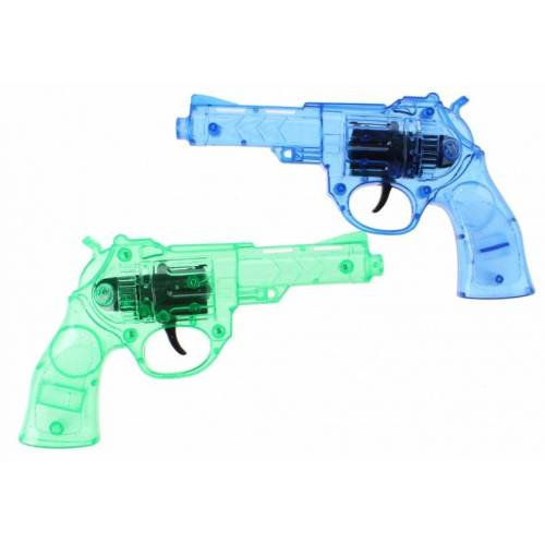 Toi-Toys Toi Toys pistolen 2 stuks met licht groen/blauw 24 cm - Blauw,Groen