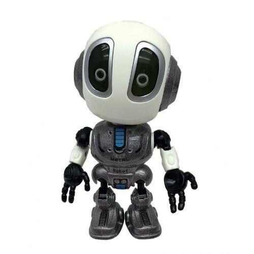 TOM robot met stemrecorder 10 cm grijs - Grijs