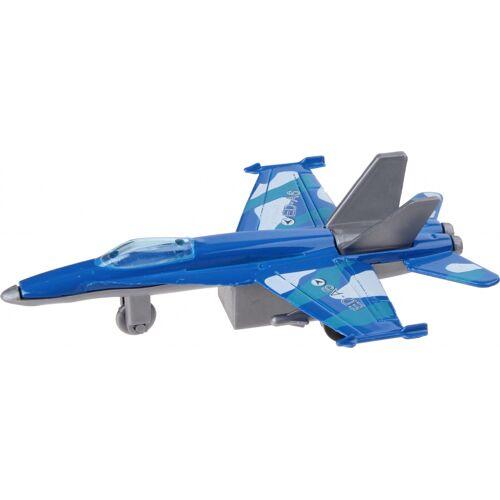 XIN YU Toys straaljager F 16 11 cm blauw - Blauw