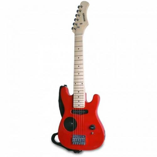 Bontempi elektrische gitaar hout 6 snaren 770 mm rood - Rood