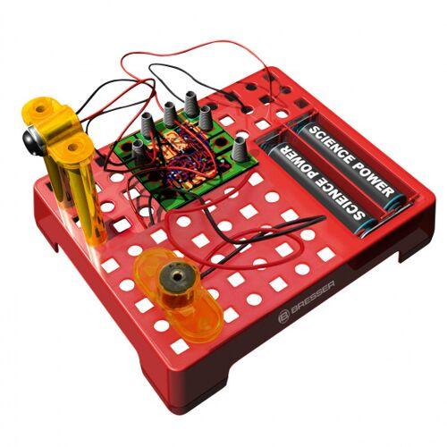 Bresser elektrotechnische set junior 13 cm staal rood 15 delig - Rood