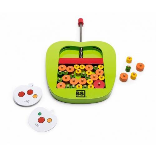 BS Toys behendigheidsspel appels plukken 64 delig - Multicolor