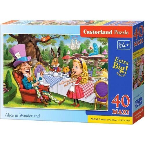 Castorland legpuzzel Alice in Wonderland junior karton 40 stukjes - Multicolor