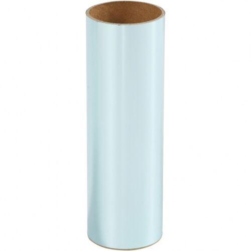 Creotime decoratiefolie lichtblauw 15,5 x 50 cm - Lichtblauw