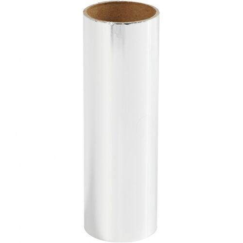 Creotime decoratiefolie zilver 15,5 x 50 cm - Zilver