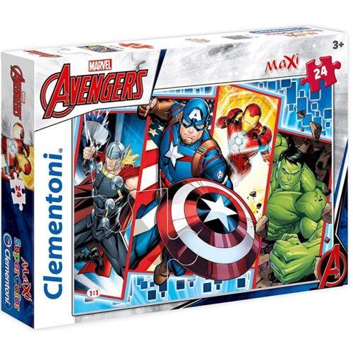 Clementoni maxi supercolor legpuzzel Avengers 24 stukjes - Multicolor