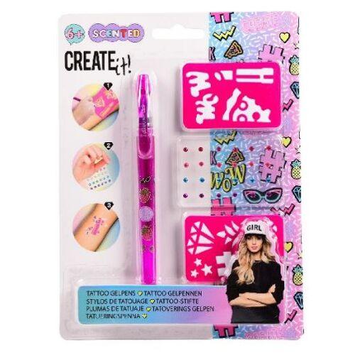 Create It! tatoeagestift junior 20 cm gel roze - Roze