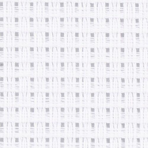Creotime aida stoffen doek 50 x 50 cm - Wit