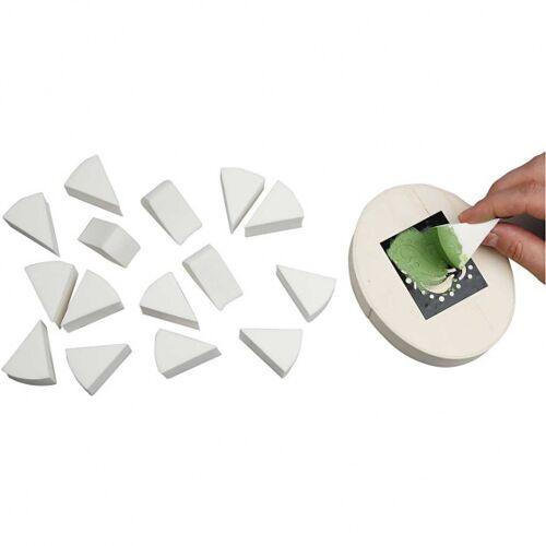 Creotime driehoekige sponsen 4 x 2,5 cm wit 32 stuks - Wit
