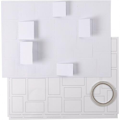 Creotime maak je eigen kerstkalender wit 30 x 42 cm 5 stuks - Wit