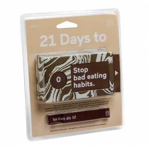 Doiy Tickets 21 Days To Stop Bad Eating Habits papier bruin - Bruin,Wit