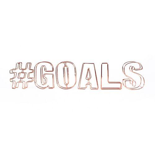 Dresz decoratie draadletters 3D #goals - Brons