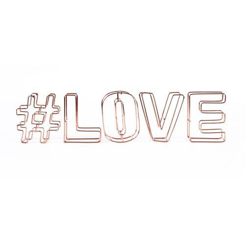 Dresz decoratie draadletters 3D #love - Brons