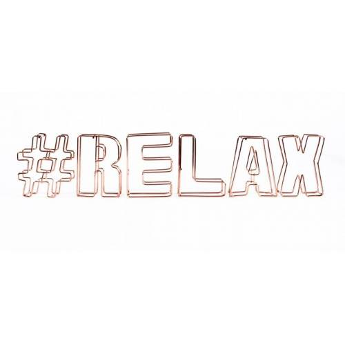 Dresz decoratie draadletters 3D #relax - Brons