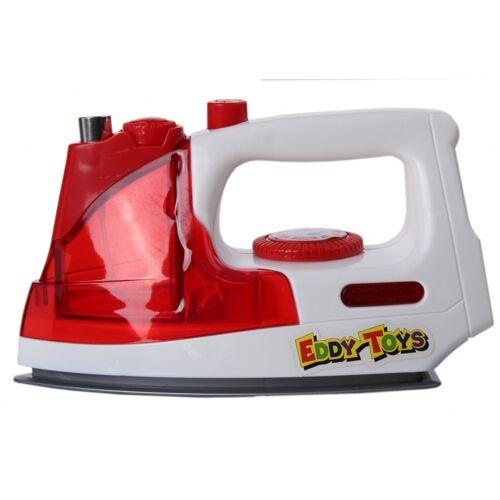 Eddy Toys strijkijzer rood/wit 18 cm - Rood,Wit