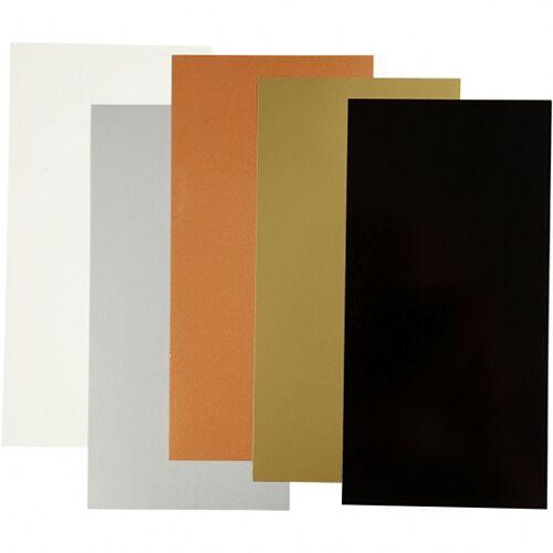 Efco decoratiefolie 10 x 20 cm 5 stuks - Multicolor