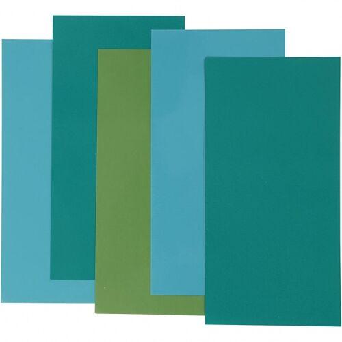 Efco decoratiefolie blauw/groen 10 x 20 cm 5 stuks - Blauw,Groen