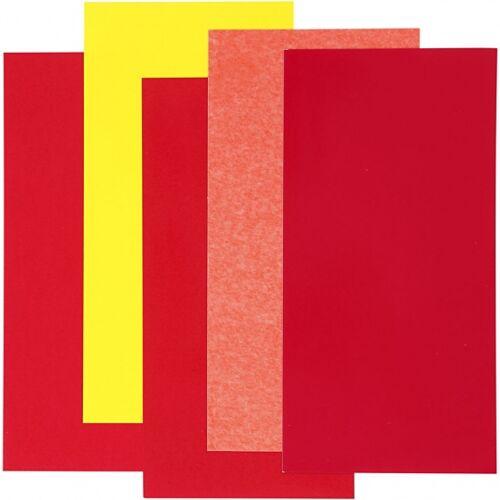 Efco decoratiefolie rood 10 x 20 cm 5 stuks - Rood