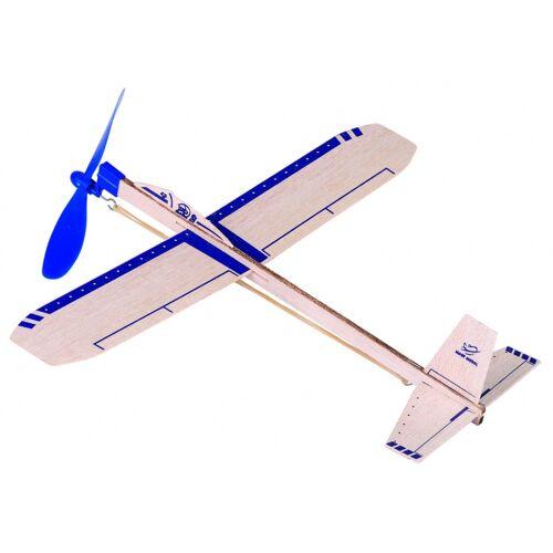 Goki Houten Zweefvliegtuig Eagle Jet: 35,5 cm - Wit,Blauw