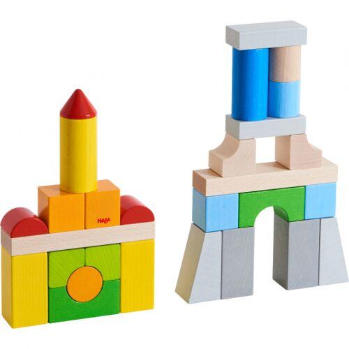 Haba bouwstenen junior hout 28 blokken - Multicolor