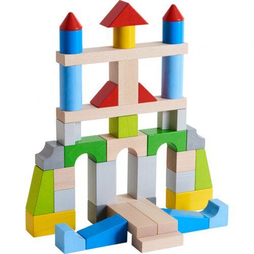 Haba bouwstenen junior hout 43 blokken - Multicolor