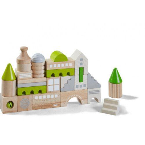 Haba bouwstenen junior hout groen 28 blokken - Groen,Grijs,Bruin
