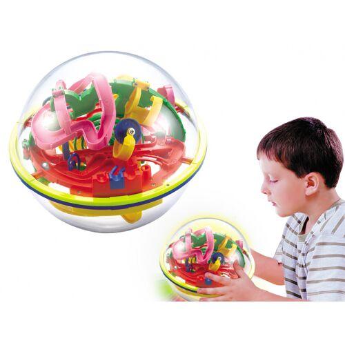 I-Total I Total hersenkraker doolhof bal junior 12 cm transparant/lime - Multicolor