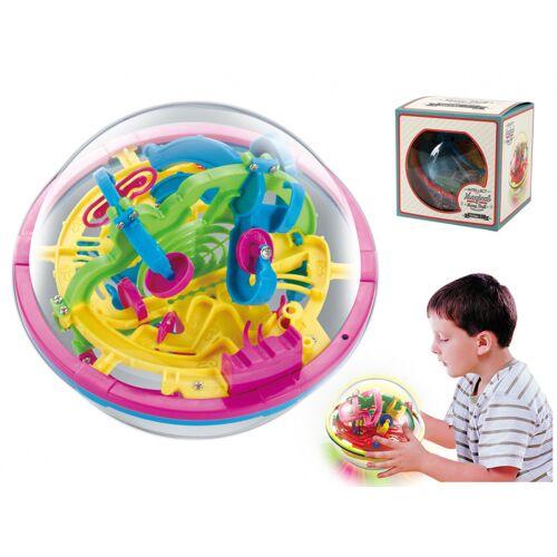 I-Total I Total hersenkraker doolhof bal junior 12 cm transparant/roze - Multicolor