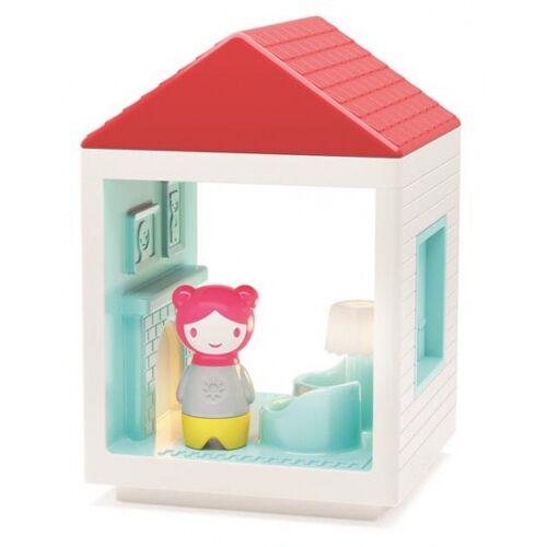 Kid O Myland huis: woonkamer met licht 13 x 13 x 19 cm - Wit