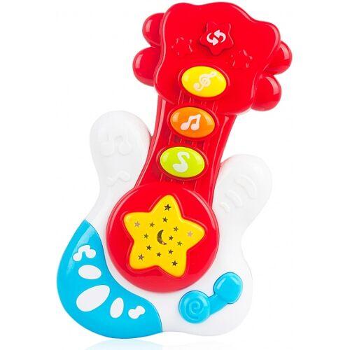 Luna elektrische speelgoedgitaar junior 18 cm rood/wit - Rood,Wit