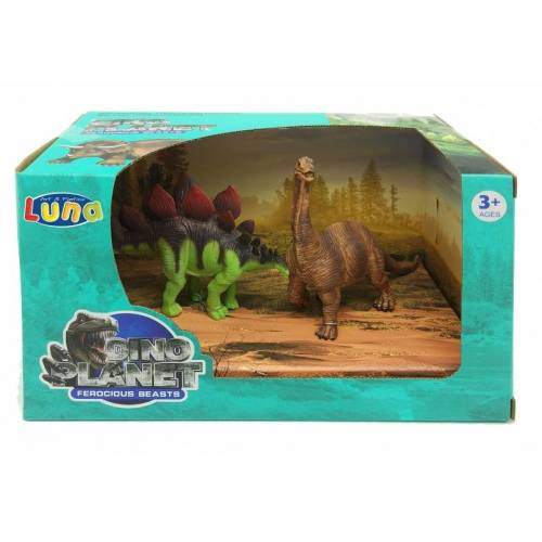 Luna speelset dinosaurussen 2 delig - Multicolor